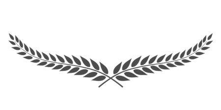 Vecteur de couronne de laurier isolé sur fond blanc