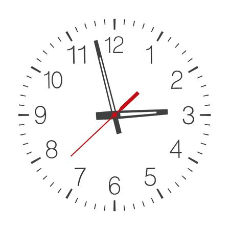 Vector clock face isolated on white