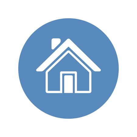 Home icon placed in blue circle