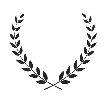 Vector laurel wreath isolated Ilustracje wektorowe
