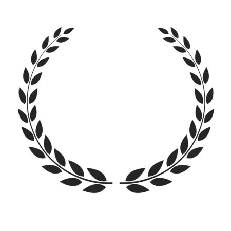 Vector laurel wreath placed on white background