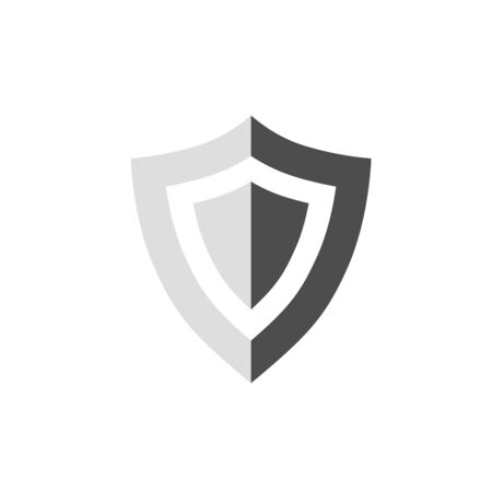 Shield icon vector. Security, protection icon isolated on white background. Illustration