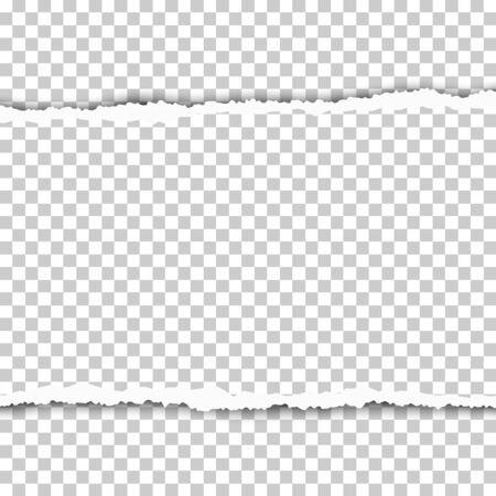 Torn, snatched piece of transparent paper. Vector template paper design. Ilustración de vector