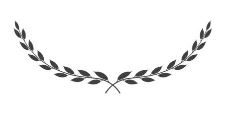 Vector laurel wreath icon isolated on white background