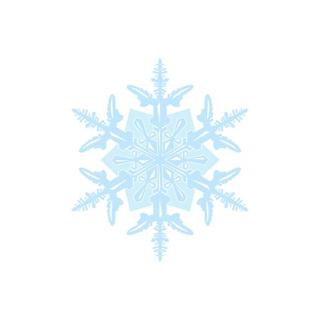 Vector snowflake isolated on white background  イラスト・ベクター素材