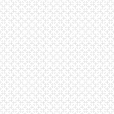 Seamless pattern made of geometric repeated light gray elements placed on white