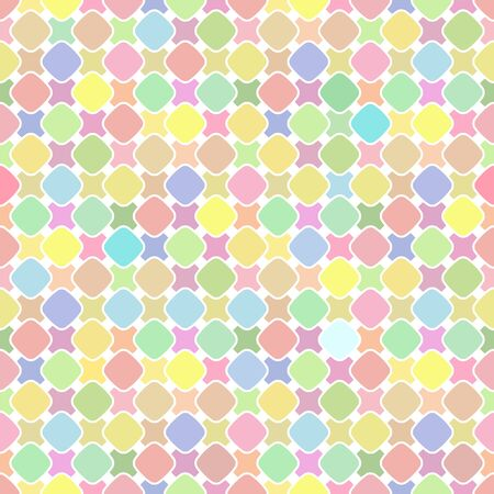Cute bright soft colorful seamless pattern. Vector illustration bright soft colorful design. Abstract seamless geometric pattern on pastel colorful background.
