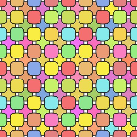 Cute bright soft colorful seamless pattern. Vector illustration. Abstract seamless geometric pattern on pastel colorful background.  イラスト・ベクター素材