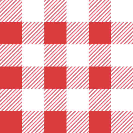 Vector red seamless table cloth texture. Vector illustration. Textile template.