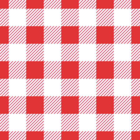 Vector red seamless table cloth texture  イラスト・ベクター素材