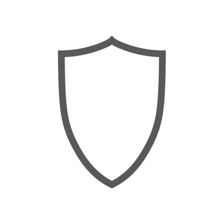 Vector shield contour icon isolated on white  イラスト・ベクター素材