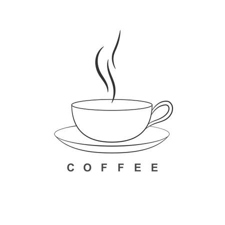 Coffee cup icon isolatedon white background  イラスト・ベクター素材
