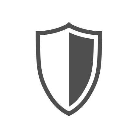 Vector shield icon placed on white background.  イラスト・ベクター素材