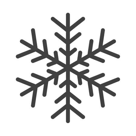 Gray Snowflake vector symbol isolated on white background
