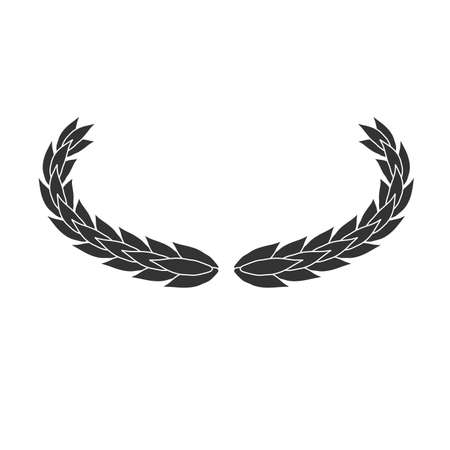 Oval laurel wreath vector icon isolated on white background