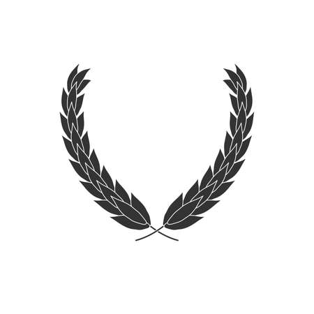 Laurel wreath vector icon isolated on white 矢量图像