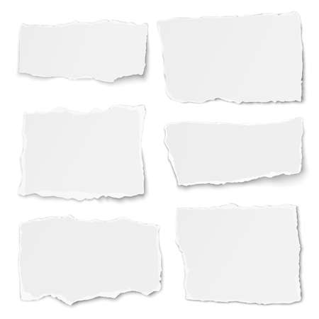 Set of paper different shapes tears isolated 矢量图像