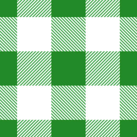 Vector green seamless table cloth texture. Vector illustration. Textile pattern.