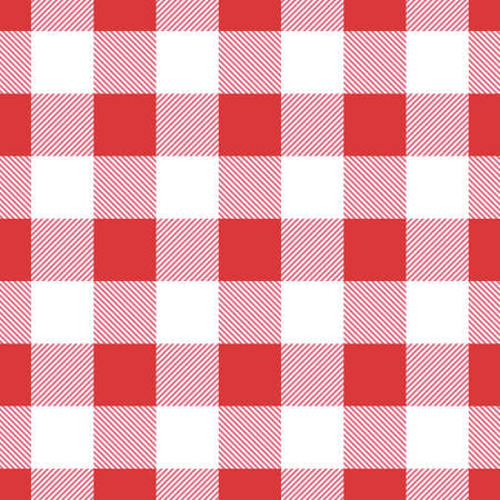Vector red seamless table cloth texture. Vector illustration. Textile pattern. 矢量图像