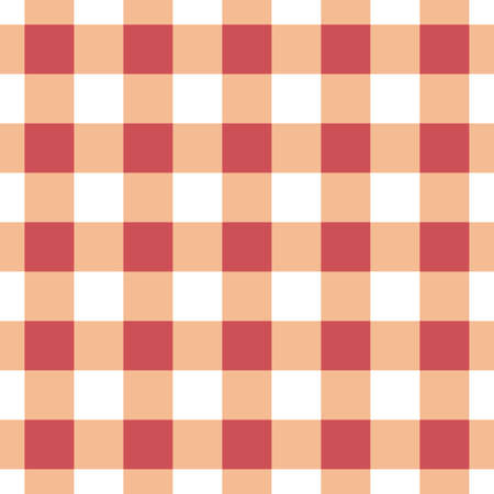 Vector seamless table cloth texture in red-orange color.