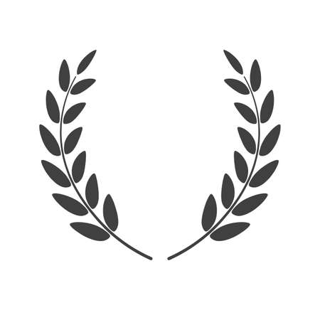 Laurel wreath vector placed on white background. Vector illustration.