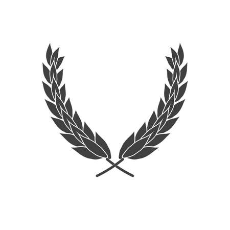 Laurel wreath vector icon isolated on white background 矢量图像