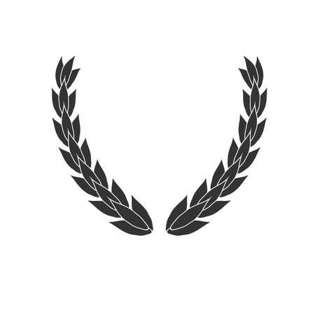 Laurel wreath vector icon isolated on white background Illustration