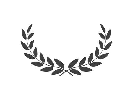 Wide laurel wreath vector isolated on white background
