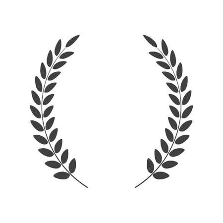 Laurel wreath vector isolated on white background Illustration