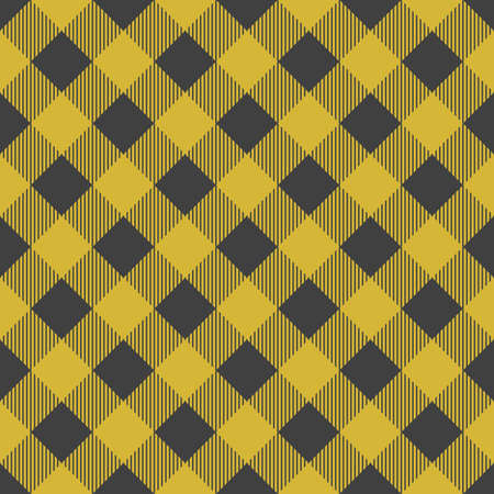 Lumberjack plaid seamless pattern. Vector illustration. Yellow color. Textile template. Illustration