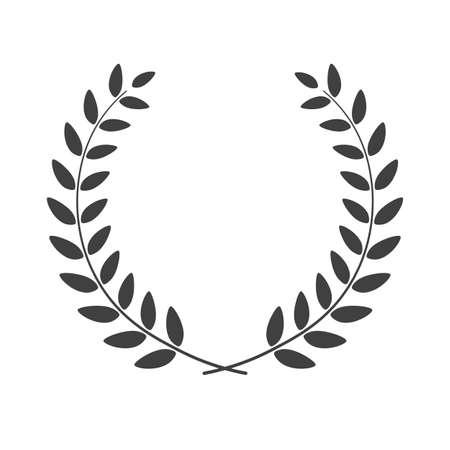 Laurel wreath isolated on white. Vector illustration. Illustration