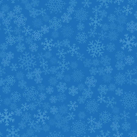 Seamless winter background of snowflakes placed chaotically. Winter fairy tale, Christmas symbol.
