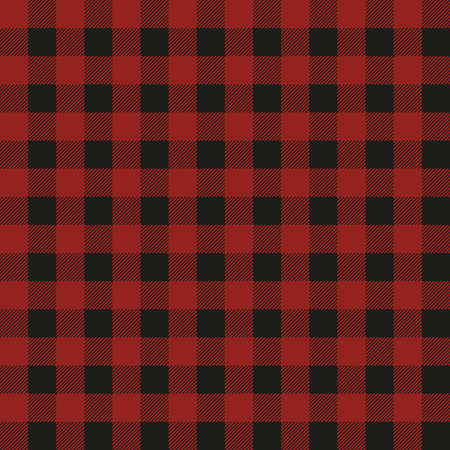 Lumberjack plaid seamless pattern. Vector textile template. Red color. Illustration