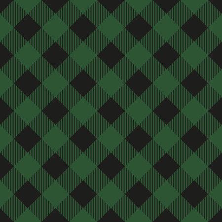 Lumberjack plaid seamless pattern. Vector illustration. Dark green color. Textile template. Illustration