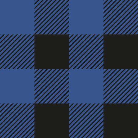 Lumberjack plaid seamless pattern. Vector illustration. Blue color. Textile template.
