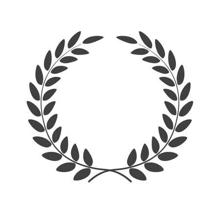 Laurel wreath isolated on white background. Vector illustration. Illustration