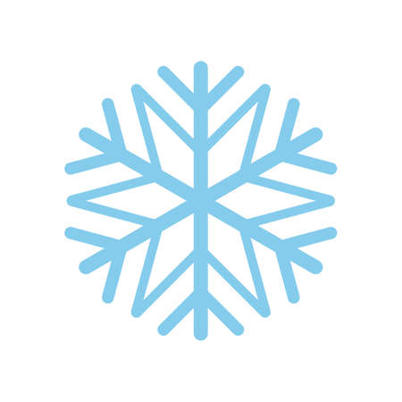 Snowflake icon isolated on white background