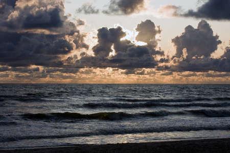 quietude: Sunset on the Baltic Sea Stock Photo