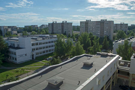 Residential quarter of Vilnius, Lithuania