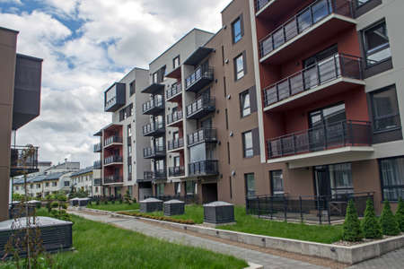 Moderno barrio residencial de Vilnius, Lituania