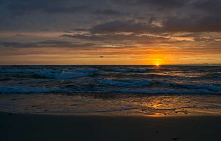specular: Sunset on the Baltic Sea Stock Photo