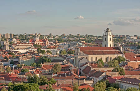 Vilnius, Lithuania. Fragment of city from the high point.