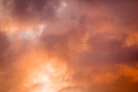 Colorful clouds in the sky at sunset time. Abstract color composition.