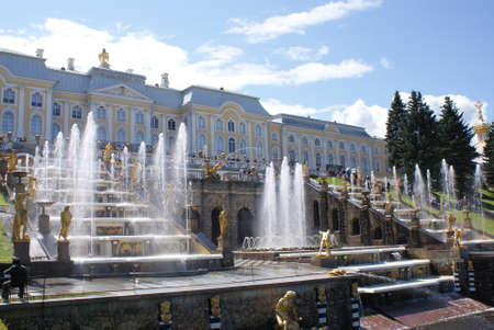 Saint-Petersburg, Russia - August 12, 2016: Fountains. Statues and monuments of St. Petersburg. City St. Petersburg architecture. Fountains in the streets and squares.