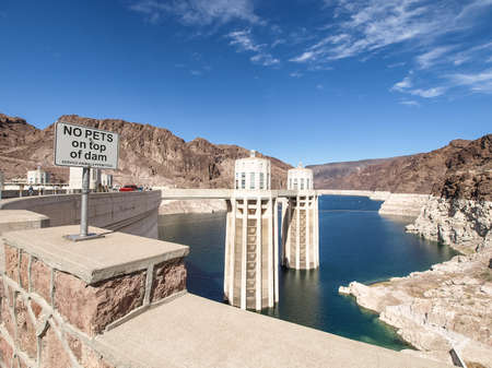 View of the Hoover Dam in Nevada, USA Stock Photo