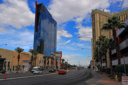 Las Vegas, USA - 15 July 2013: Walking in Las Vegas. City streets. Commercial and private buildings. Street life.