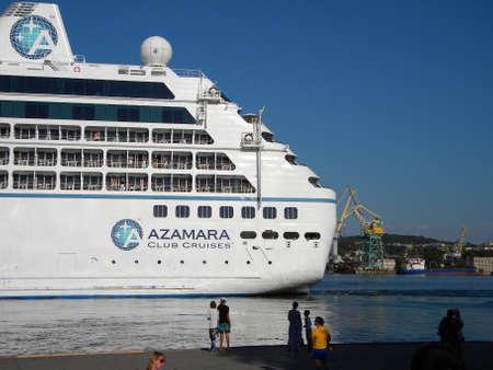 New Orleans, USA - June 23, 2011: Azamara Quest, tourist liner in the port. Big tourist ship