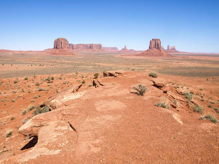 Landscape of the ancient rocks. Monument Valley, Arizona