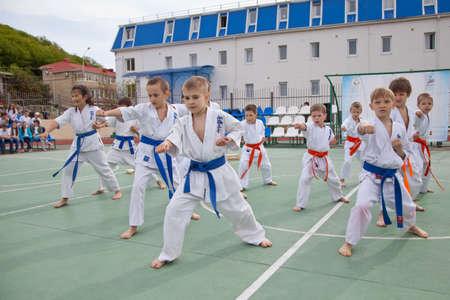 the Karate Training. the Kids Karate clubs.