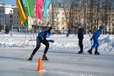 Patinaje. Entrenamiento para montar en patines en el hielo. Editorial